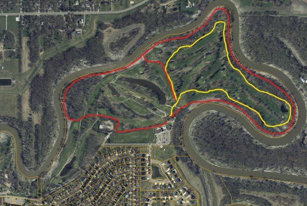 This image shows a map of the Edgewood Ski Trails.