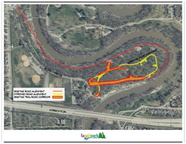 This image shows a map of the Lindenwood Road project.