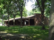This image shows the main shelter at Oak Grove Park.