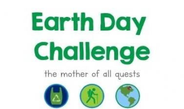 This image shows a graphic of the online Earth Day GooseChase Challenge event.