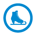 This image shows a ice skating icon
