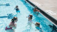 Swimming lessons at Island Park Pool