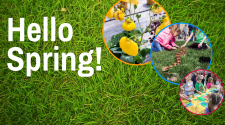 This image shows a graphic of Hello Spring.